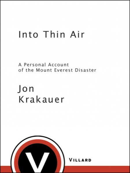 Read Into Thin Air online